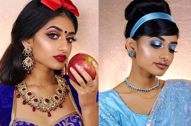 A Model Re-Created Disney Princesses With An Indian Twist And Nailed It