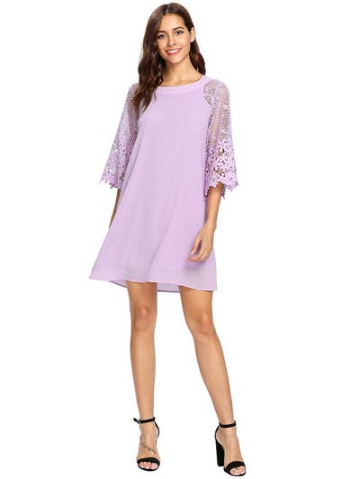 31e1551f661 A chiffon tunic dress to get into the ~swing~ of being swarmed with  compliments.