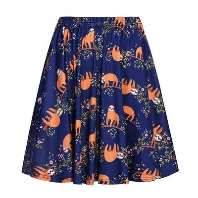 badb9116c9621 36. A sloth-printed pleated skirt that people won t be slow to compliment.