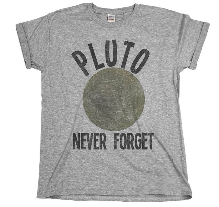 a8600436950 A mournful unisex T-shirt for those of us who will never accept Pluto s  unjust fate.