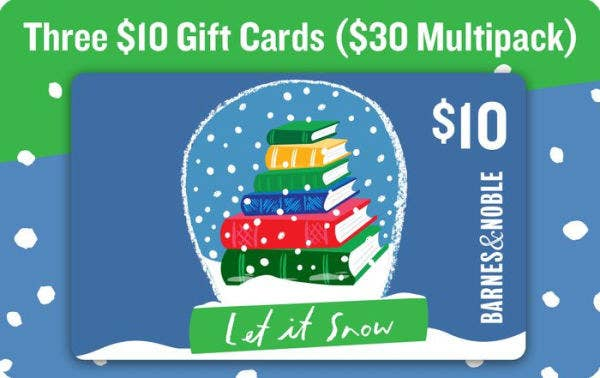 sunday december 3rd a 30 barnes noble gift card multipack