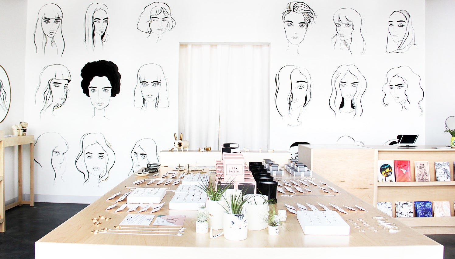 This picture-perfect shop is a rotating pop-up gallery that sells everything from jewelry and clothing to zines and ceramics, with a portion of sales going toward nonprofits benefiting women. They also hold workshops on everything from skin care to self-care and throw events to raise money for local women's shelters.