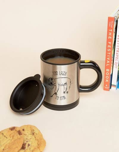 A Self Stirring Sloth Mug So They Can Gulp Down All The De Stressing Liquid Of Their Choice Without Suffering Chore