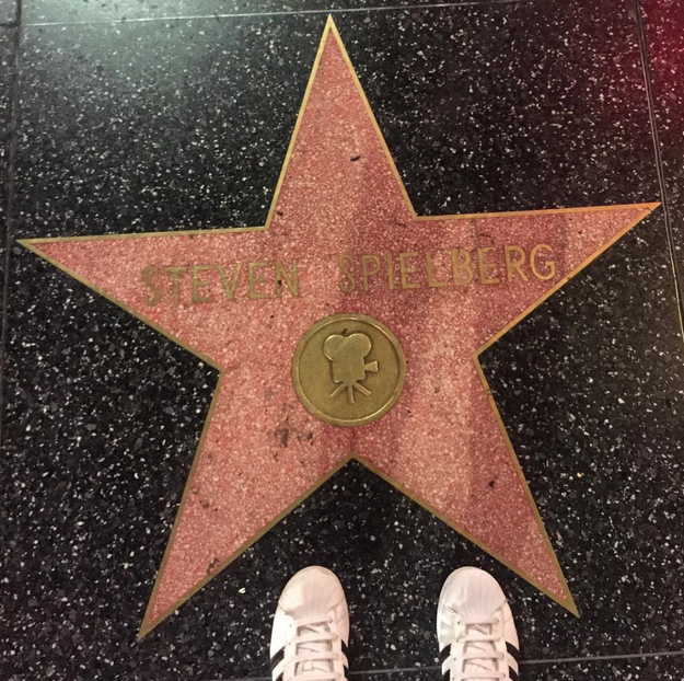 The stars are actually just a part of the regular, old sidewalk in Hollywood.
