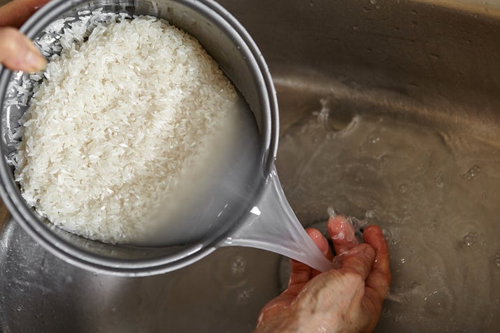 """Washing rice stops it from getting too sticky and ensures the fluffy texture you're supposed to get. And if anything, think of the hygiene reasons. Rice isn't washed before it's packaged. Who knows who's touched it and where it's been sitting."" —Carly1348"