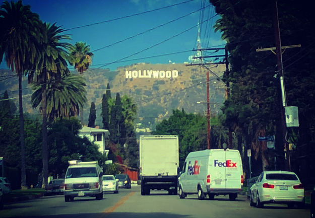 The Hollywood sign is really just like a billboard that never changes.