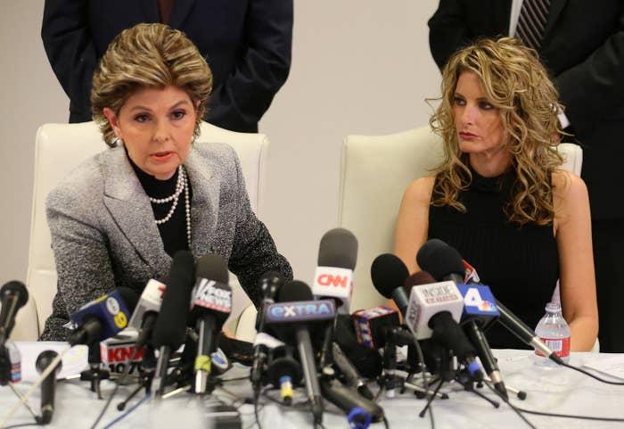 Summer Zervos, right, and her attorney, Gloria Allred.