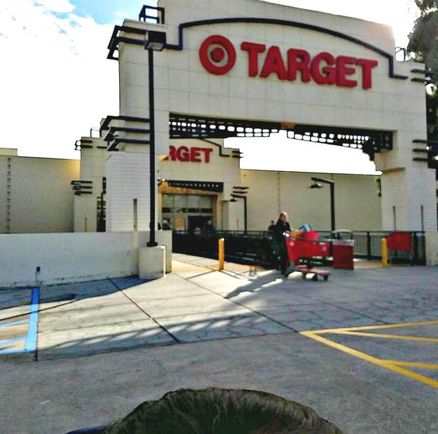 There are literally only a few Walmarts, but Targets are everywhere and they have multi-leveled parking garages.