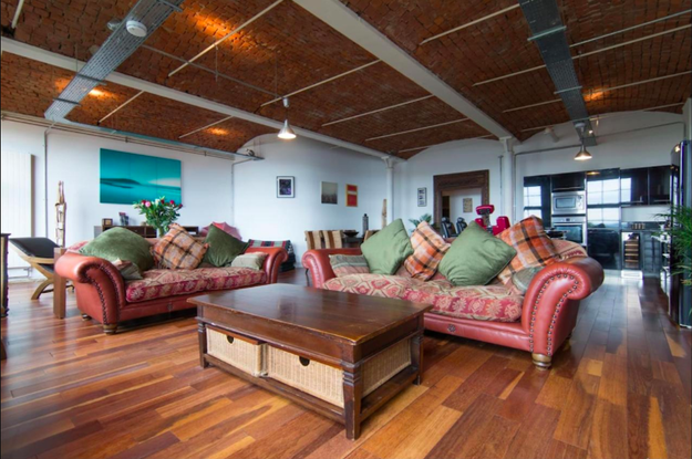 This stunning loft apartment on the River Clyde.