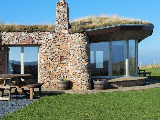 This turf-roofed eco home on the Isle of Islay.