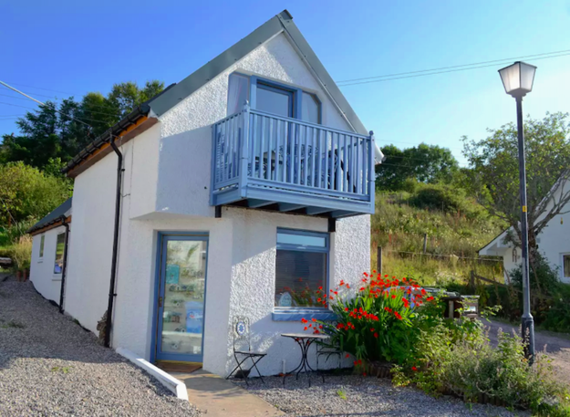 This beautiful seaside cottage in Wester Ross.