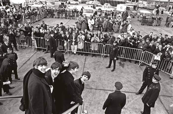 The Beatles arriving in New York on Feb. 7, 1964.