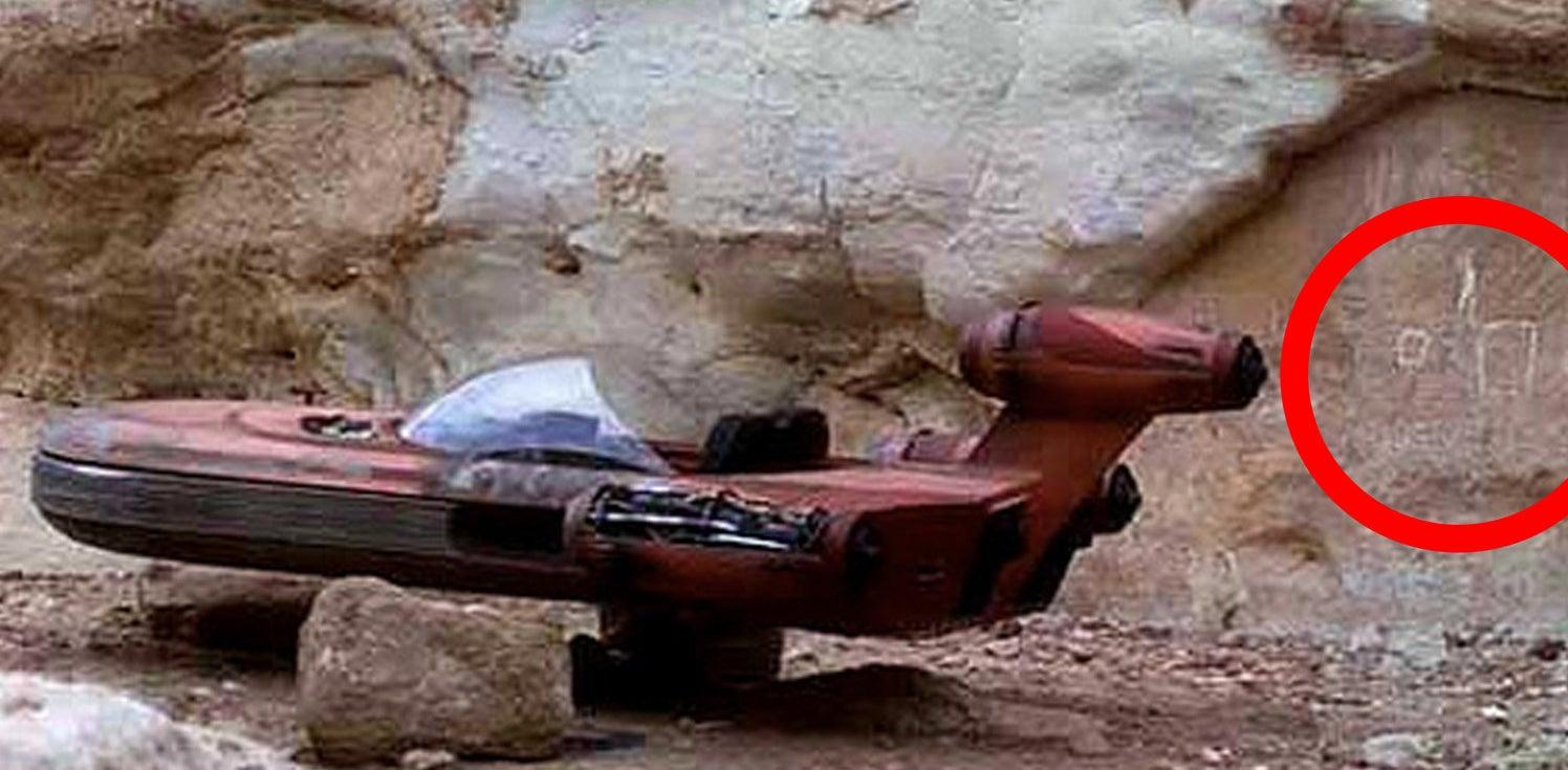 Hieroglyphics on Tatooine.