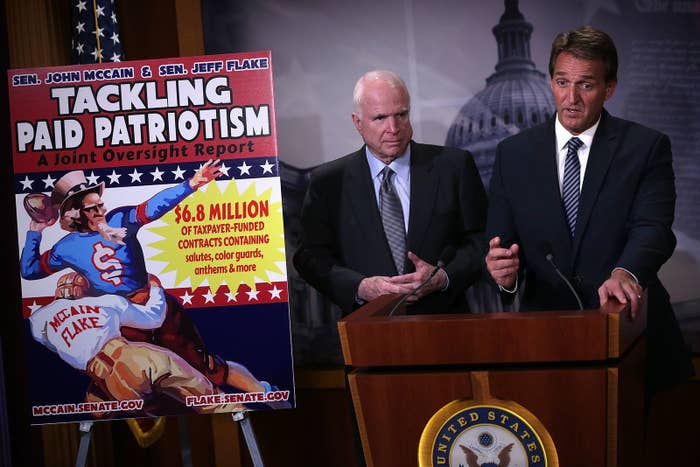 Sens. John McCain (left) and Jeff Flake.