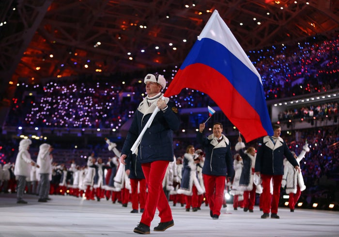 The Russian team at the Sochi 2014 Winter Olympics.