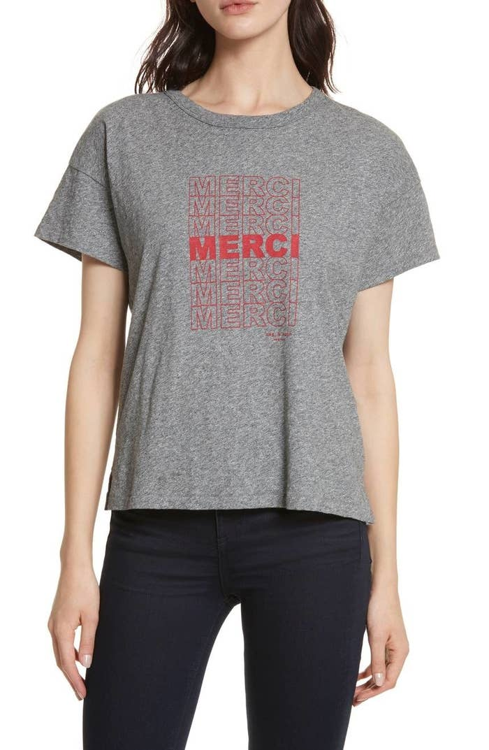 fe431cbd24c0 A soft AF pima cotton Rag   Bone T-shirt you can use to answer all the  compliments you get when you wear it.