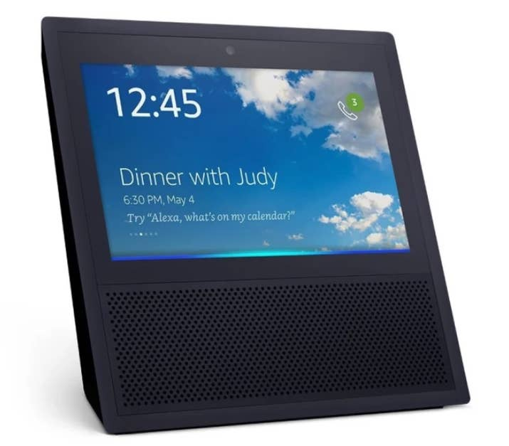 """Here's how BuzzFeed's Mat Honan describes how it works: """"Let's say my father has activated Drop In for me on his Echo Show. All I have to do is say, 'Alexa, drop in on Dad.' It then turns on the microphone and camera on my father's device and starts broadcasting that to me. For the several seconds of the call, my father's video screen would appear fogged over. But then there he'll be. And to be clear: This happens even if he doesn't answer. Unless he declines the call, audibly or by tapping on the screen, it goes through. It just starts. Hello, you look nice today.""""Creepy!"""