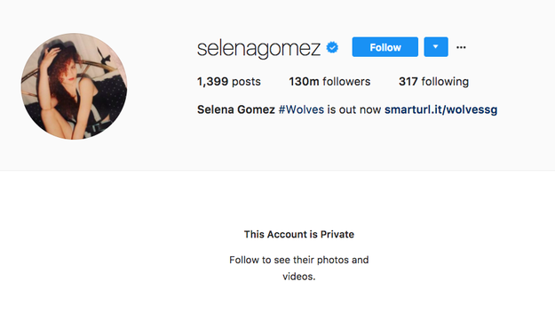 Earlier today, Selena Gomez — who made history as the first person to reach 100 million followers on Instagram — made her account private.