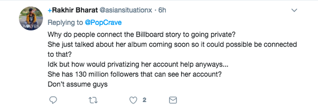 Meanwhile, some don't think that there's a connection between her account and the interview at all.
