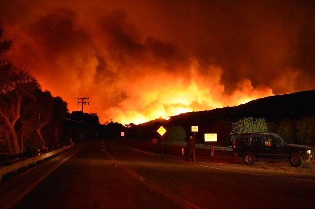 A Huge Wildfire Is Tearing Through Southern California