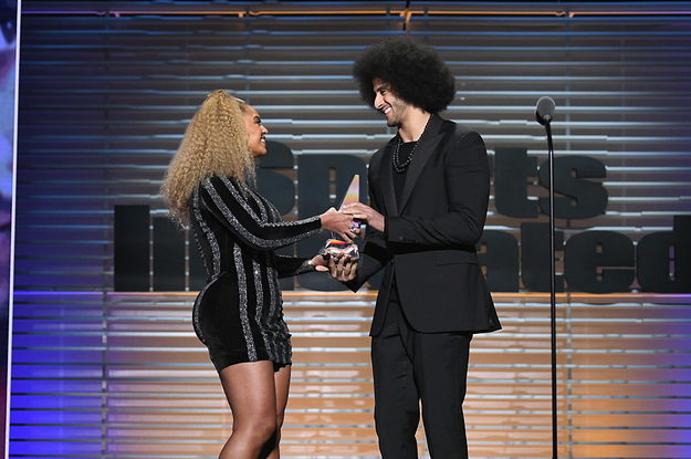 Beyoncé Made A Surprise Appearance To Present Colin Kaepernick With An Award