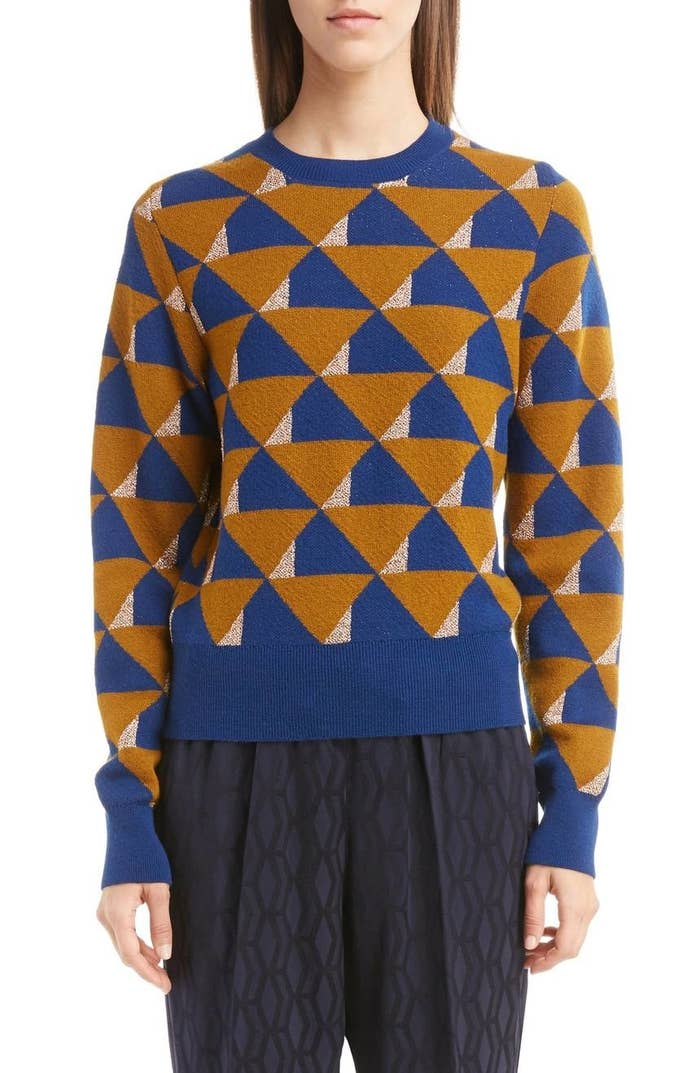 1b91cdde8286 27. A merino wool Dries Van Noten sweater with a gorgeously colorful  graphic print that'll surely get you noticed.