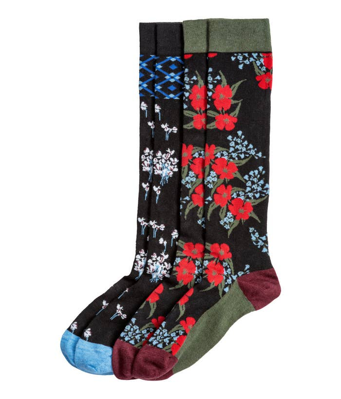 a811cdd4736 39. A two-pack of stunning floral Erdem x H&M knee socks, because they're  one of the few things you can still get your hands on from this stunning ...