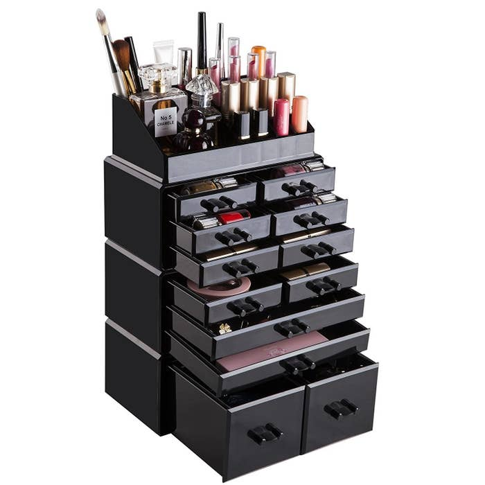 A Chic Makeup Organizer With Layers Drawers And Slots Oh My Loving Heart Be Still
