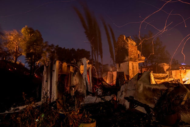 The Skirball fire was the latest in a series of blazes in Southern California — fueled by the powerful Santa Ana winds — that have burned more than 83,000 acres, destroyed hundreds of homes and structures, and forced tens of thousands of residents to evacuate.