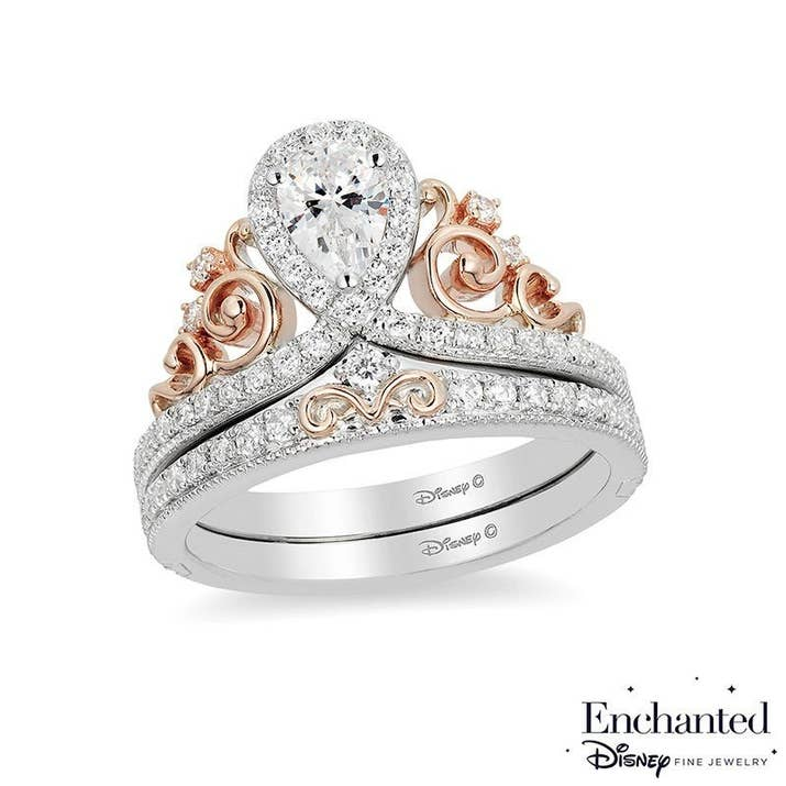 well if youre planning on getting engaged anytime soon or you just want some fancy ass jewelry you can now get a disney inspired ring - Princess Wedding Ring
