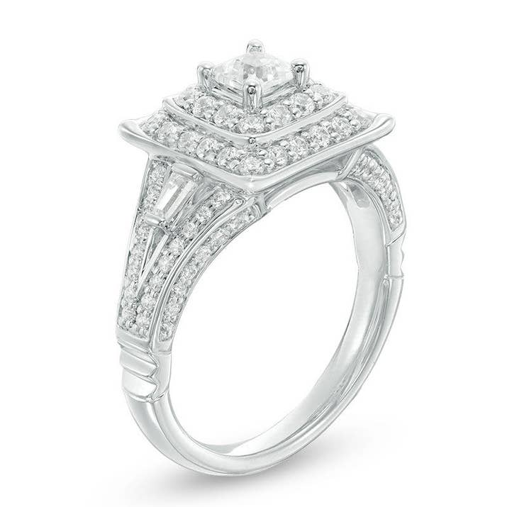 maybe mulan is your favorite princess and youd like this white gold ring with a setting inspired by chinese architecture - Disney Wedding Ring