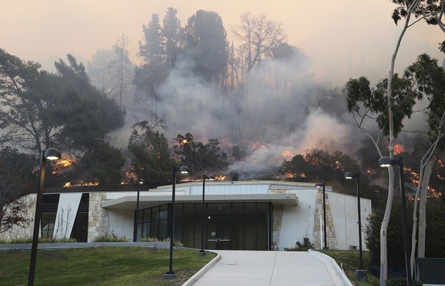 Around 220 to 300 firefighters battled the blaze, which is at zero containment.