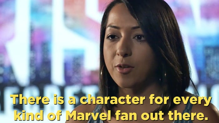 """""""It came out of a desire to be able to tell stories about characters that we think are the next great heroes of the Marvel Universe,"""" Amanat continued.""""I think it's incredibly important that we tell young women and young girls that they have this incredible power within themselves, and that they have heroes out there [who] ... they can look up to, especially in these times."""""""