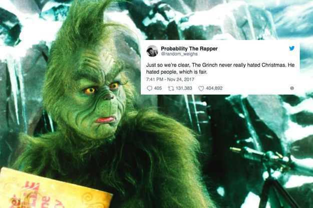 21 Tweets About The Grinch That Are So Fucking Funny