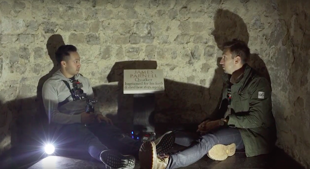 It's said that James Parnell haunts the castle's dungeon, so Ryan and Shane tried to contact him using a spirit box.