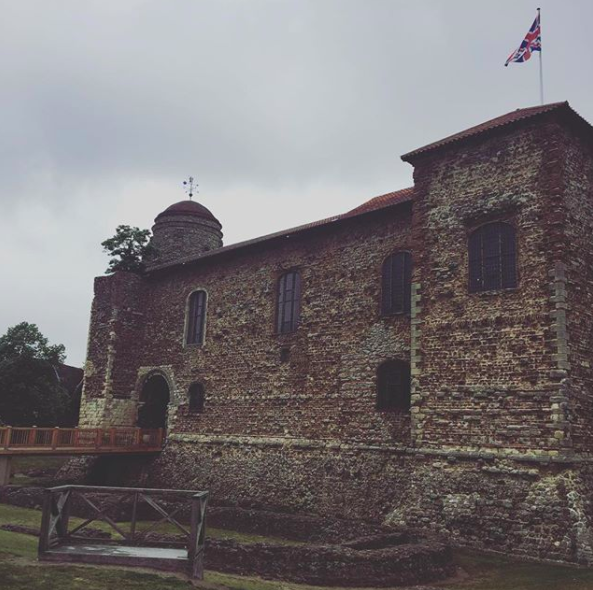 Colchester Castle was originally built to protect against Scandinavian attacks from the sea, and to assert power over the surrounding land.