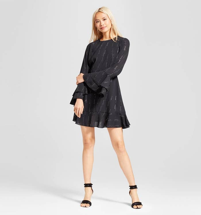 e42f59d1fa A bell-sleeve dress you ll be able to throw on for work or that holiday  party you had basically decided you d have to go to naked.