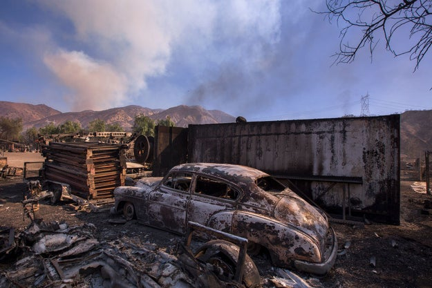 Among the other major fires, the 12,605-acre Creek Fire around Sylmar, which destroyed 15 structures, was contained 10% on Thursday as firefighters were challenged by high winds, poor access, and steep terrain.