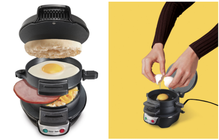 We all know that one breakfast diva (mine is definitely my older brother) who would flip for this.Get it from Amazon for $23 (available in four colors) or Walmart for $18.85 (available in red).