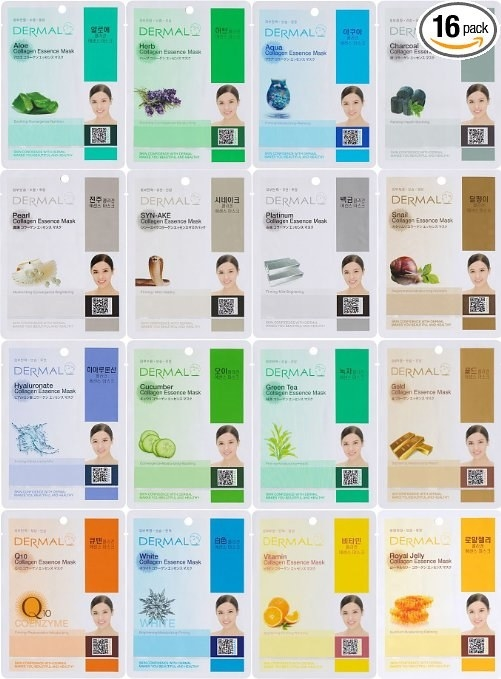 A set of Korean sheet masks that has a 4.5-star rating on Amazon and costs less than $11.