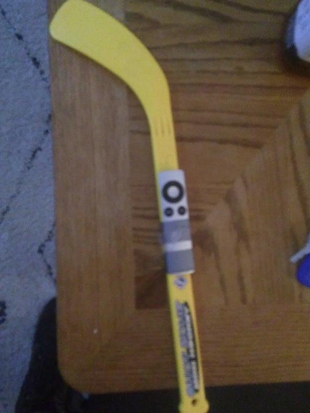 A hockey stick: