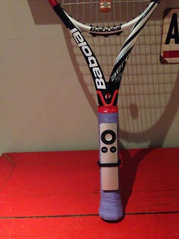 A tennis racket: