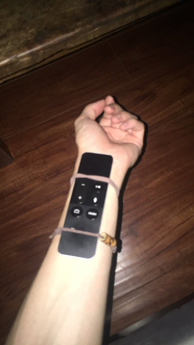 And, if all else fails, your arm: