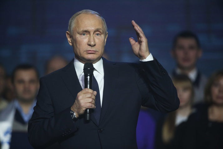Russian President Vladimir Putin announcing that he will run for reelection in the 2018 presidential elections 2018.