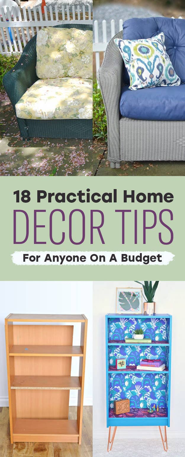 Share On facebook  18 Practical Home Decor Tips For Anyone A Budget
