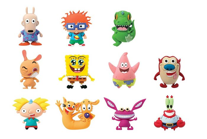"""Promising review: """"I love these keychains. They are very well made and look just like the character. I highly recommend getting them if you're a '90s Nick fan. It's a blind bag purchase so you never know which character you're getting and it's one character per bag."""" —Amazon Is Great!Get it from Amazon for $6.99."""