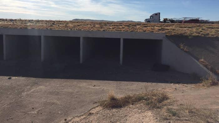 """The culvert where Border Patrol Agents Rogelio """"Roger"""" Martinez and Stephen Garland were found injured."""