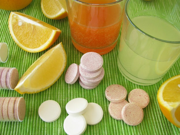 Vitamin C or other supplements won't magically cure you, but they probably won't hurt either.