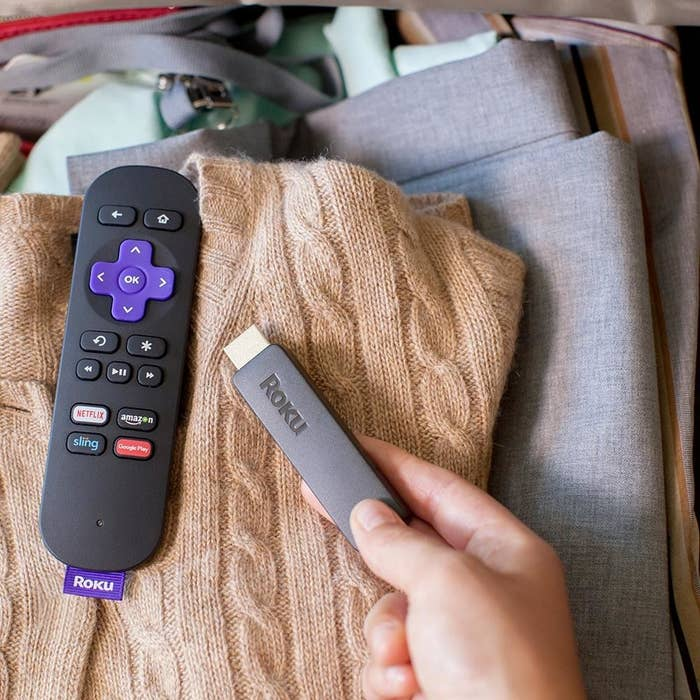 """Just plug the Roku into the TV, and you can watch Netflix, Hulu, Amazon, Spotify, YouTube, and tons of other streaming and rental services on one device, no cable required.Promising review: """"I love my Roku and I'm kicking myself for not buying it sooner! The stick is small and can be hooked up to almost any TV — ours is probably 5–6 years old and it works just fine with it. Easy to use and setup. Love that I was able to download my Netflix, Hulu, and Prime all in one area so I can switch back and forth easily. Also love that we can take it on vacation with us! I'm thinking this will be a great gift to some of my family too!"""" —sjobabe86Get it from Amazon for $39.23 or from Jet for $39.98."""