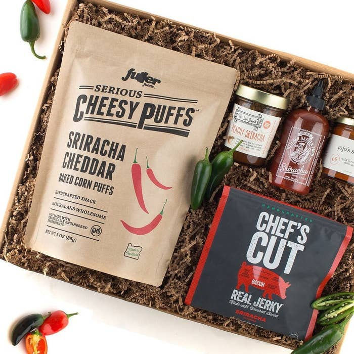What they'll get: Four to five of the ~coolest~ products the great folks behind Mouth have recently discovered. For example, a box could include a cocktail mixer, mouthwatering candy, big *dill* pickles, flavored popcorn, and goes-with-everything hot sauce. Get a monthly subscription from Mouth for $54+.Also check out their subscription boxes for whiskey, gin, vodka, bourbon, snacks, pickles, and Indie America.